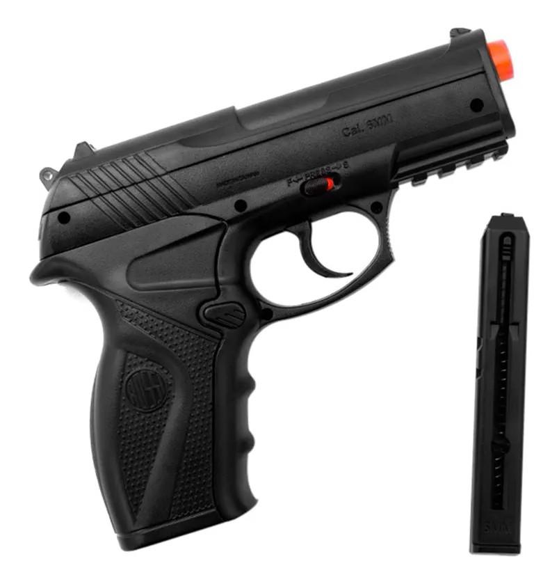Pistola de Pressão Rossi C11 Co2 6mm esfera de aço + 5 Co2 + Coldre Velado