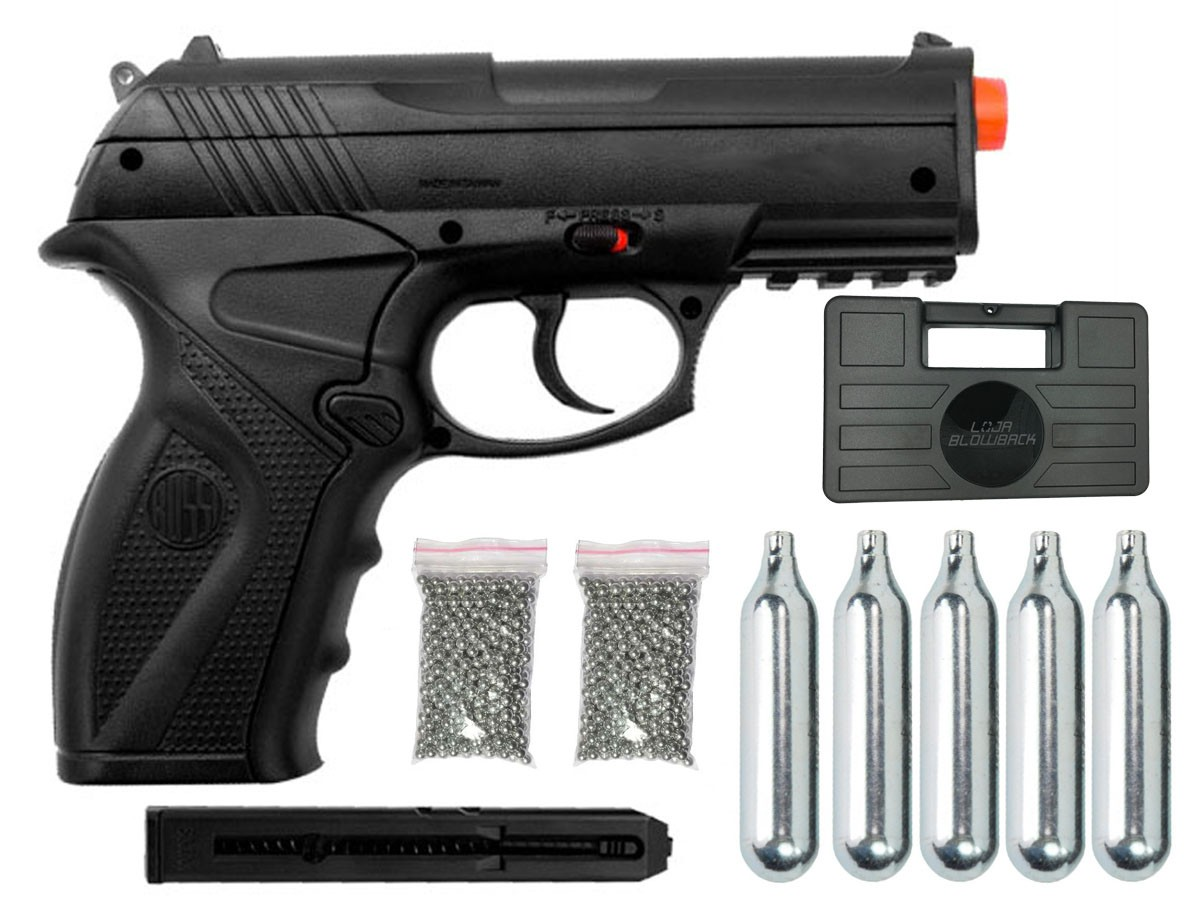 Pistola de Pressão Rossi C11 CO2 4.5mm Airgun K1 + Maleta Blowback