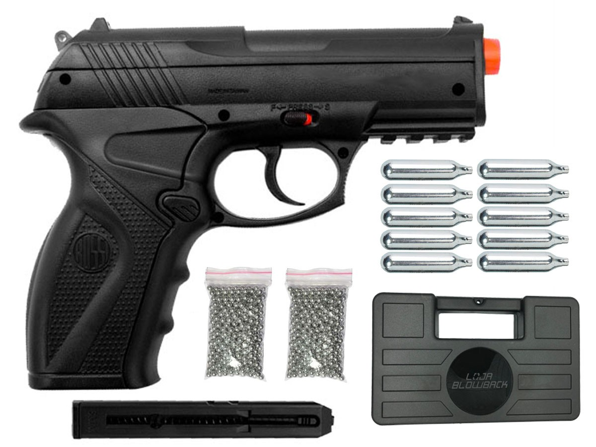 Pistola de Pressão Rossi C11 CO2 4.5mm Airgun K2 + Maleta Blowback