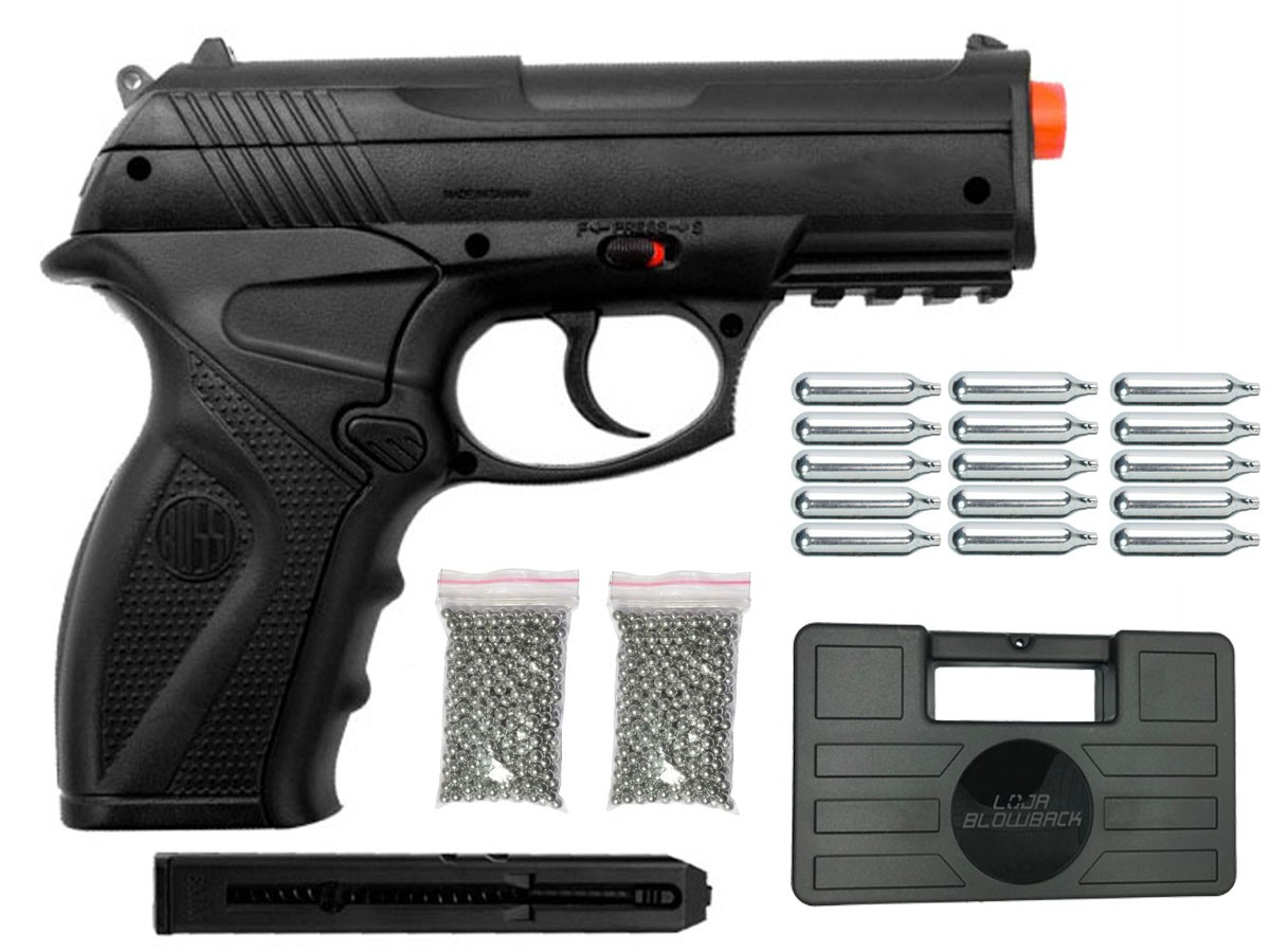 Pistola de Pressão Rossi C11 CO2 4.5mm Airgun K3 + Maleta Blowback