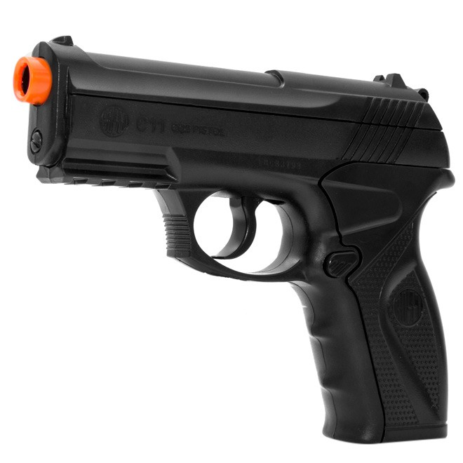 Pistola de Pressão Rossi C11 CO2 Airgun K3 + Maleta Blowback
