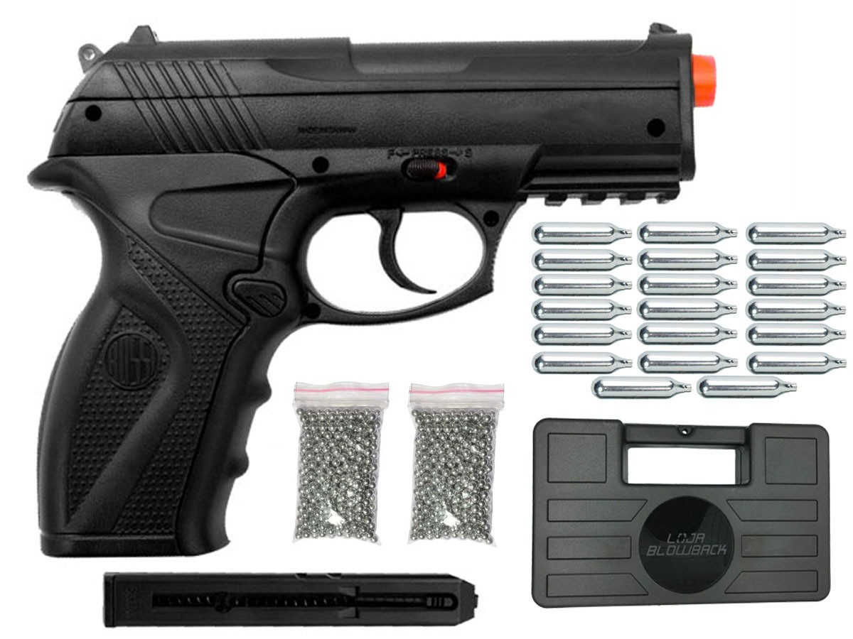 Pistola de Pressão Rossi C11 CO2 4.5mm Airgun K4 + Maleta Blowback