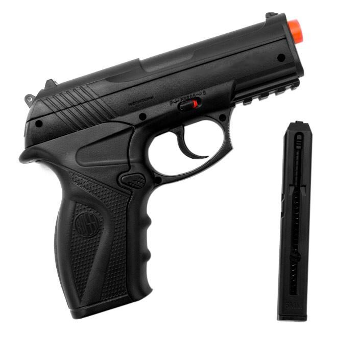 Pistola de Pressão Rossi C11 CO2 Airgun K4 + Maleta Blowback