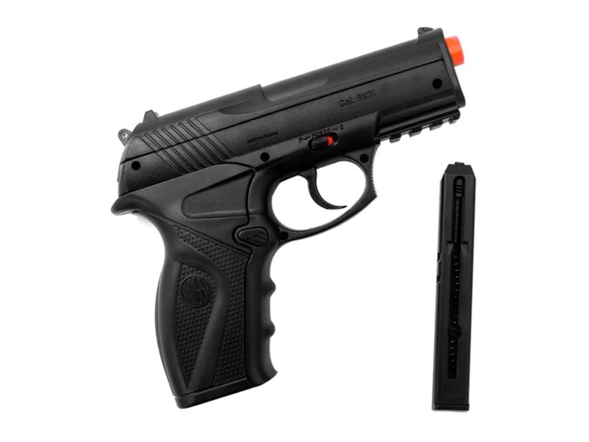 Pistola de Pressão Rossi C11 Gás Co2 Airsoft 6mm
