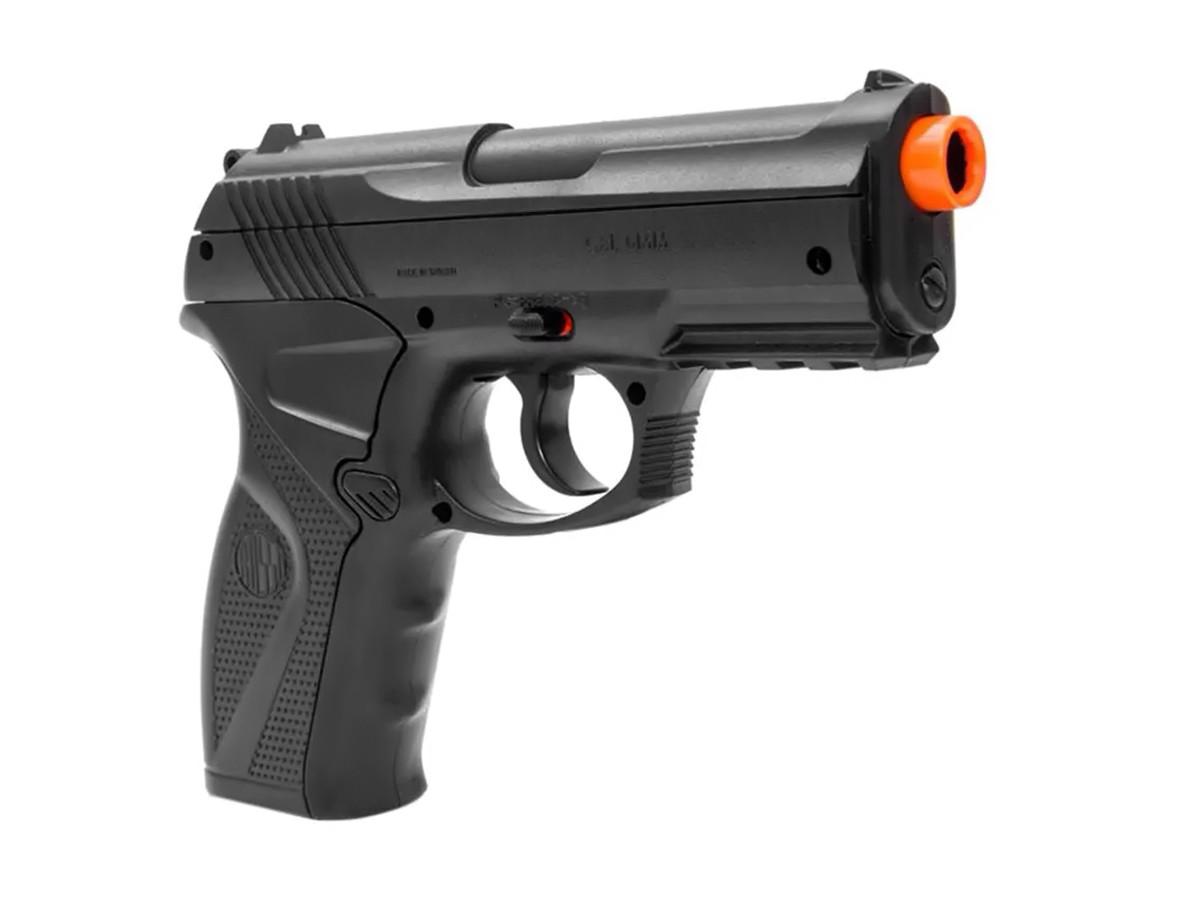 Pistola de Pressão Rossi C11 Gás Co2 Airsoft 6mm Kit 6