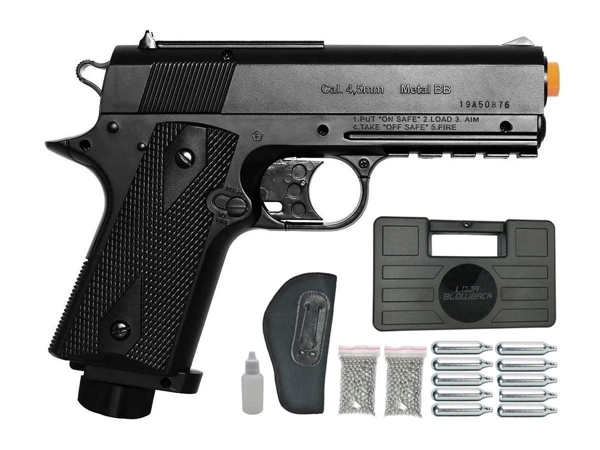 Pistola De Pressão Wingun W401 Esferas De Aço 4,5mm Co2 K6