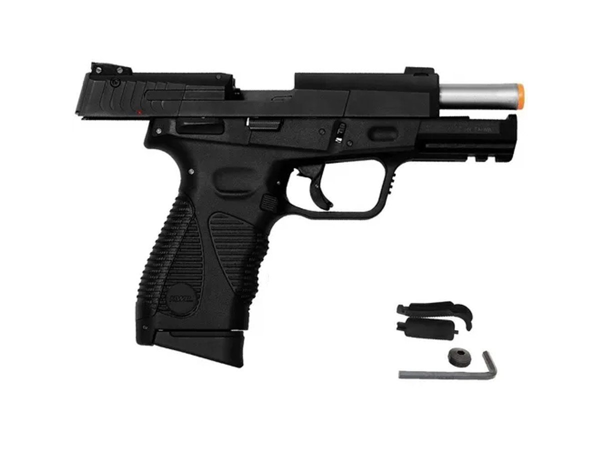 Pistola de Pressão 24/7 KWC Slide Metal Co2 Blowback 4.5mm + 5 Co2 + 500 esferas + Coldre robocop