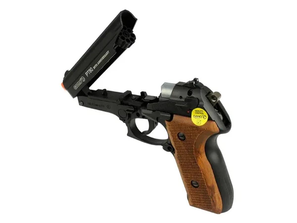Pistola Pressão Co2 Gamo Pt-80 Limitada Chumbinho 4.5mm Kit5