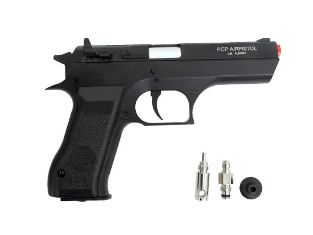 Pistola Pressão Pcp P45 Kwc Slide Metal Airgun Rossi 4.5mm