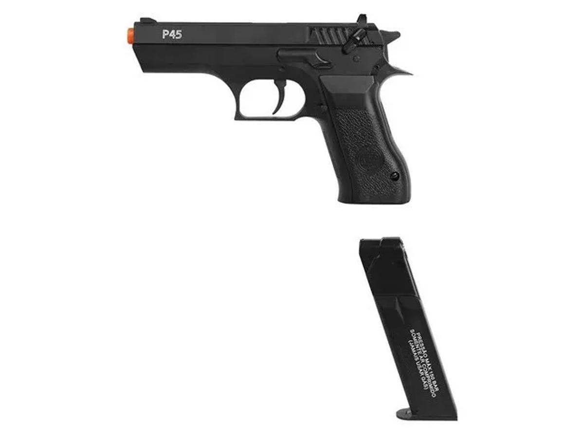 Pistola Pressão Pcp P45 Kwc Slide Metal Airgun Rossi 4.5mm