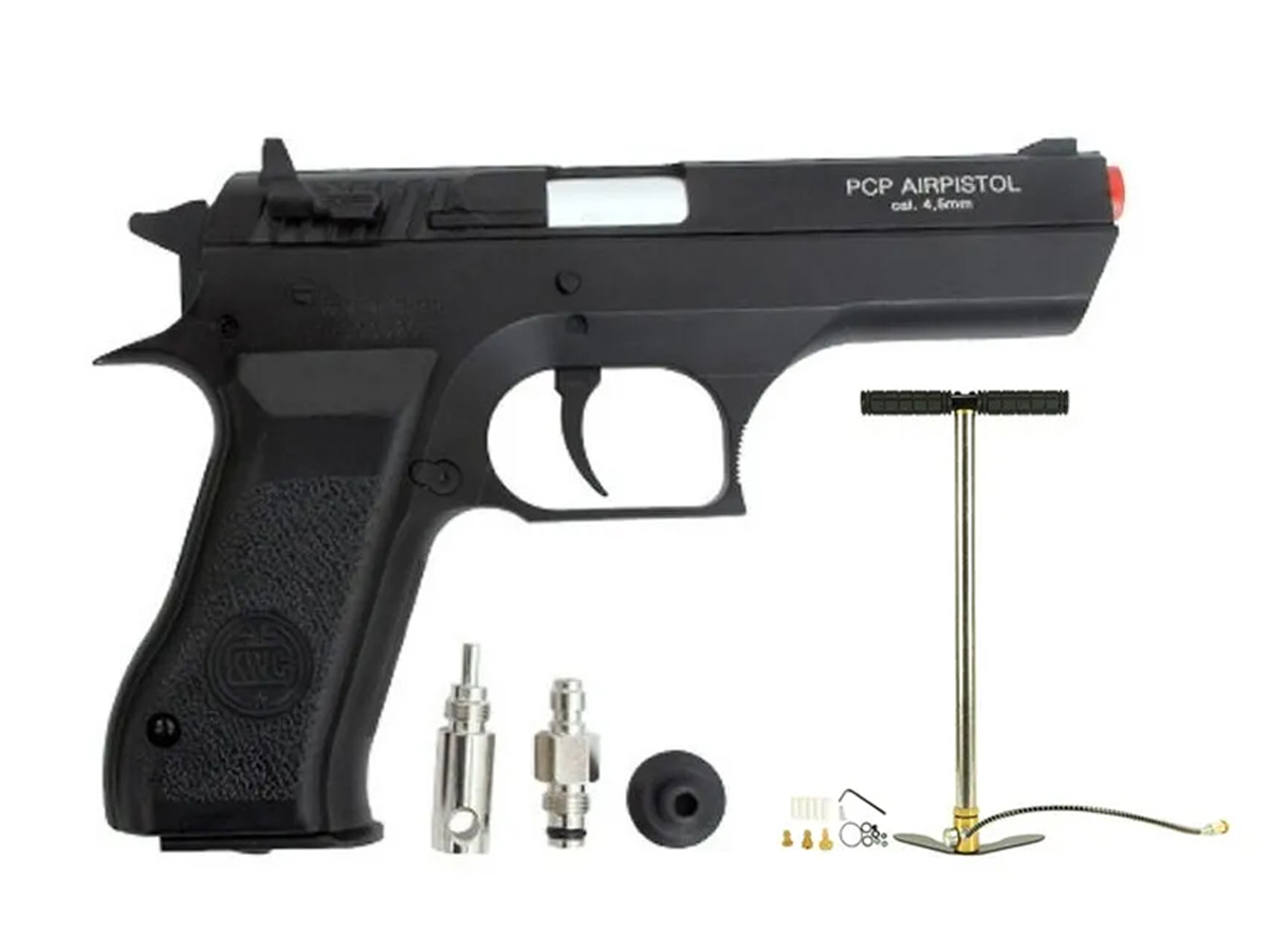 Pistola Pressão Pcp P45 Kwc Slide Metal Airgun Rossi 4.5mm 1