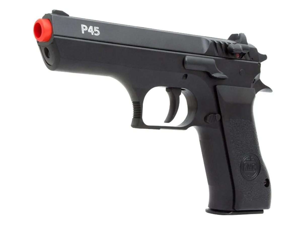 Pistola Pressão Pcp P45 Kwc Slide Metal Airgun Rossi 4.5mm 1