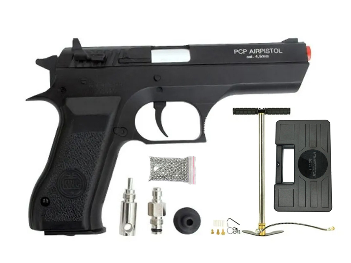 Pistola Pressão Pcp P45 Kwc Slide Metal Airgun Rossi 4.5mm 3
