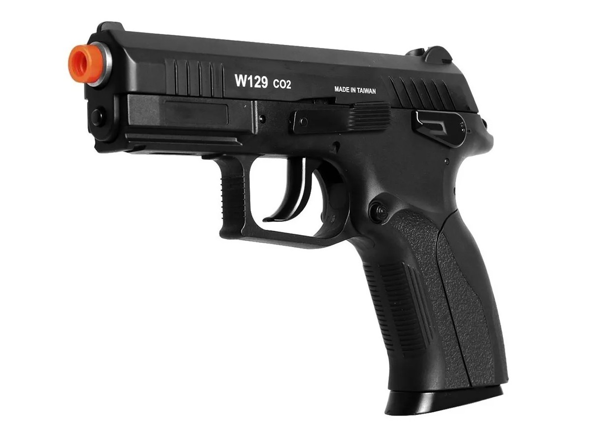 Pistola de Pressão Wingun W129 Slide Metal Co2 Airgun 4.5mm