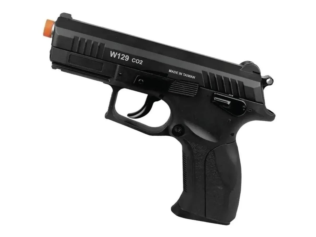 Pistola Pressão Wingun W129 Slide Metal Co2 Airgun 4.5mm K5