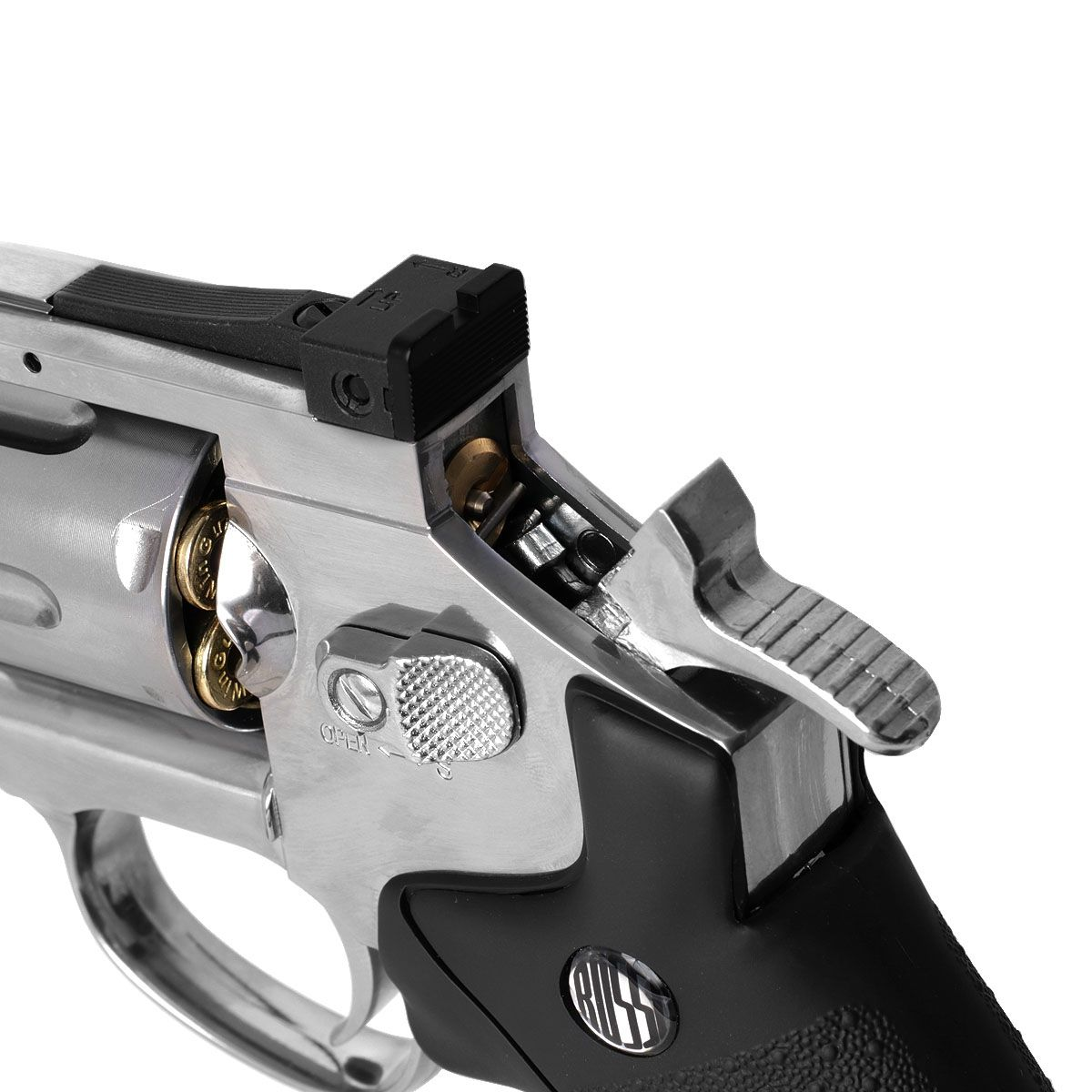 Revolver De Airgun Rossi 708 Full Metal Co2 Cromado 4,5mm