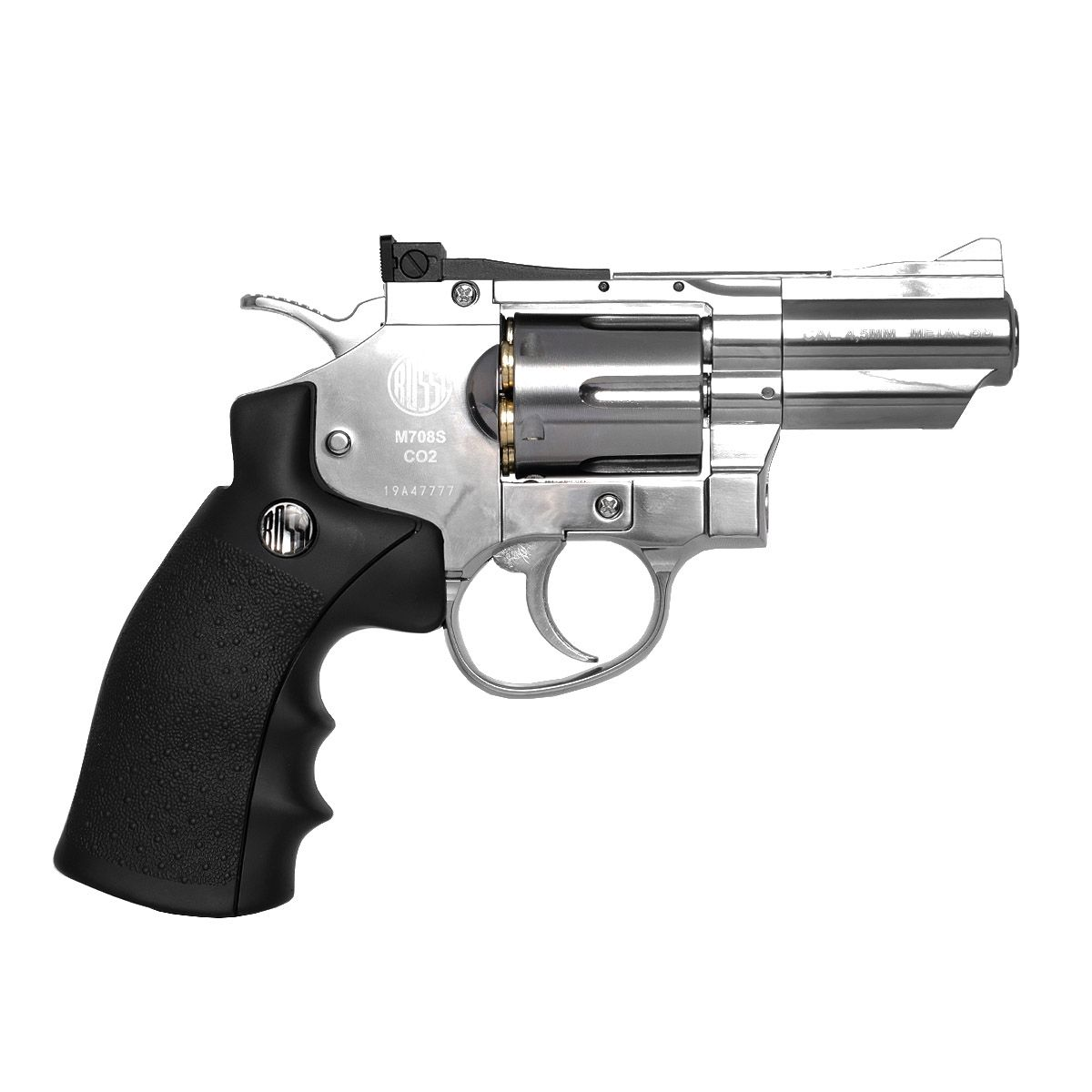 Revolver De Airgun Rossi 708 Full Metal Co2 Cromado 4,5mm