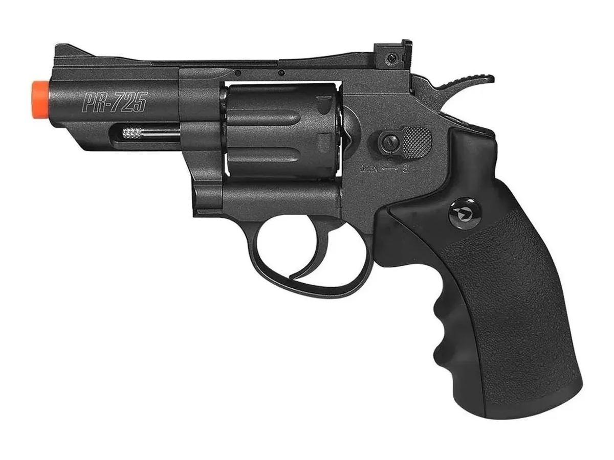 Revolver Pressão Co2 Chumbinho Gamo Full Metal 4.5mm Kit 4