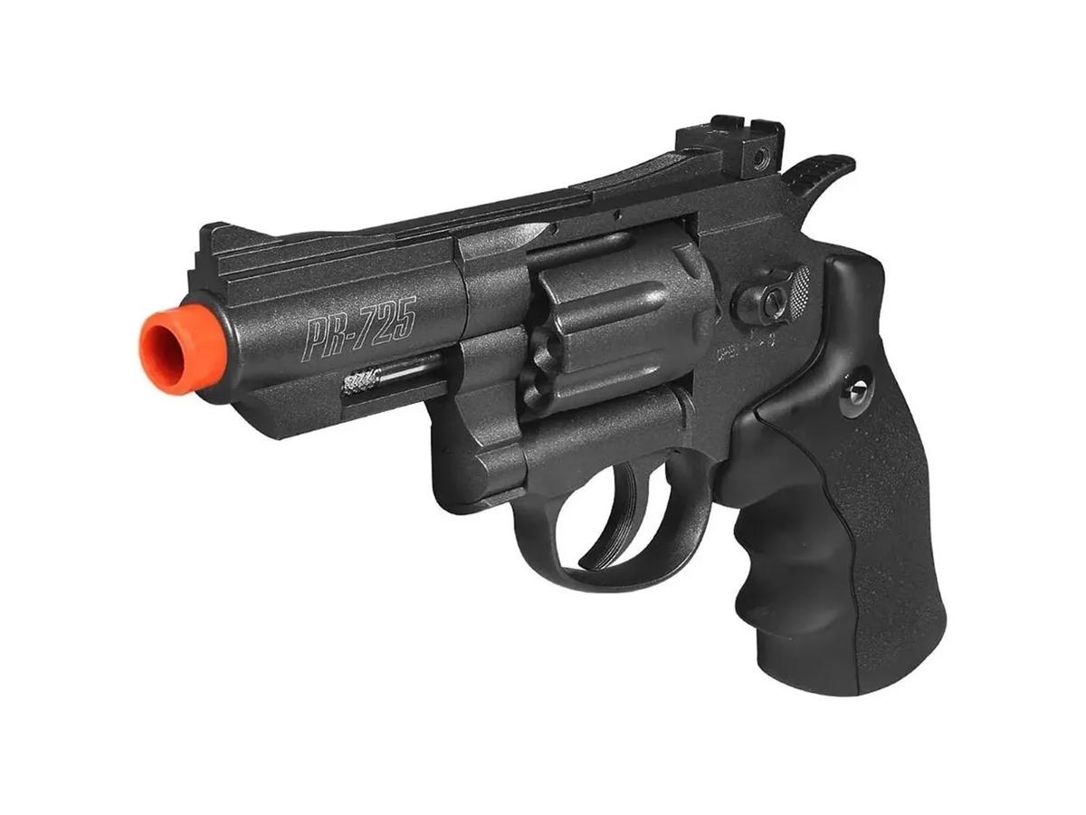 Revolver Pressão Co2 Chumbinho Gamo Full Metal 4.5mm Kit 6