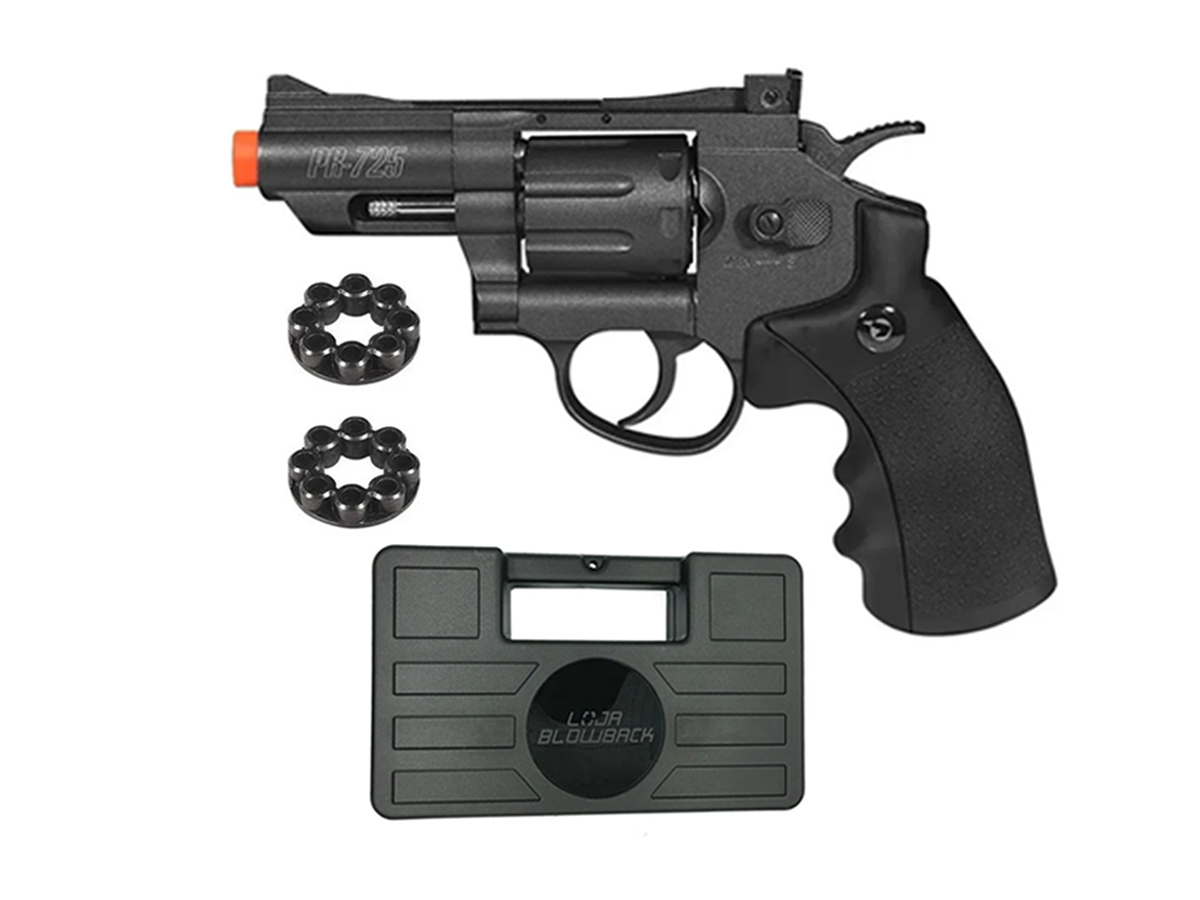 Revolver Pressão Co2 Chumbinho Gamo Full Metal 4.5mm Kit 7