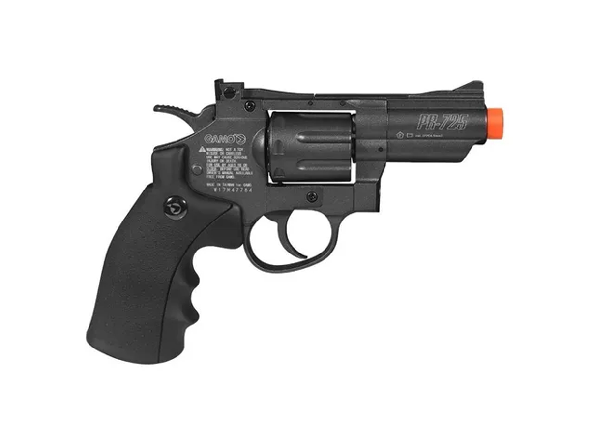 Revolver Pressão Co2 Chumbinho Gamo Full Metal 4.5mm Kit 8