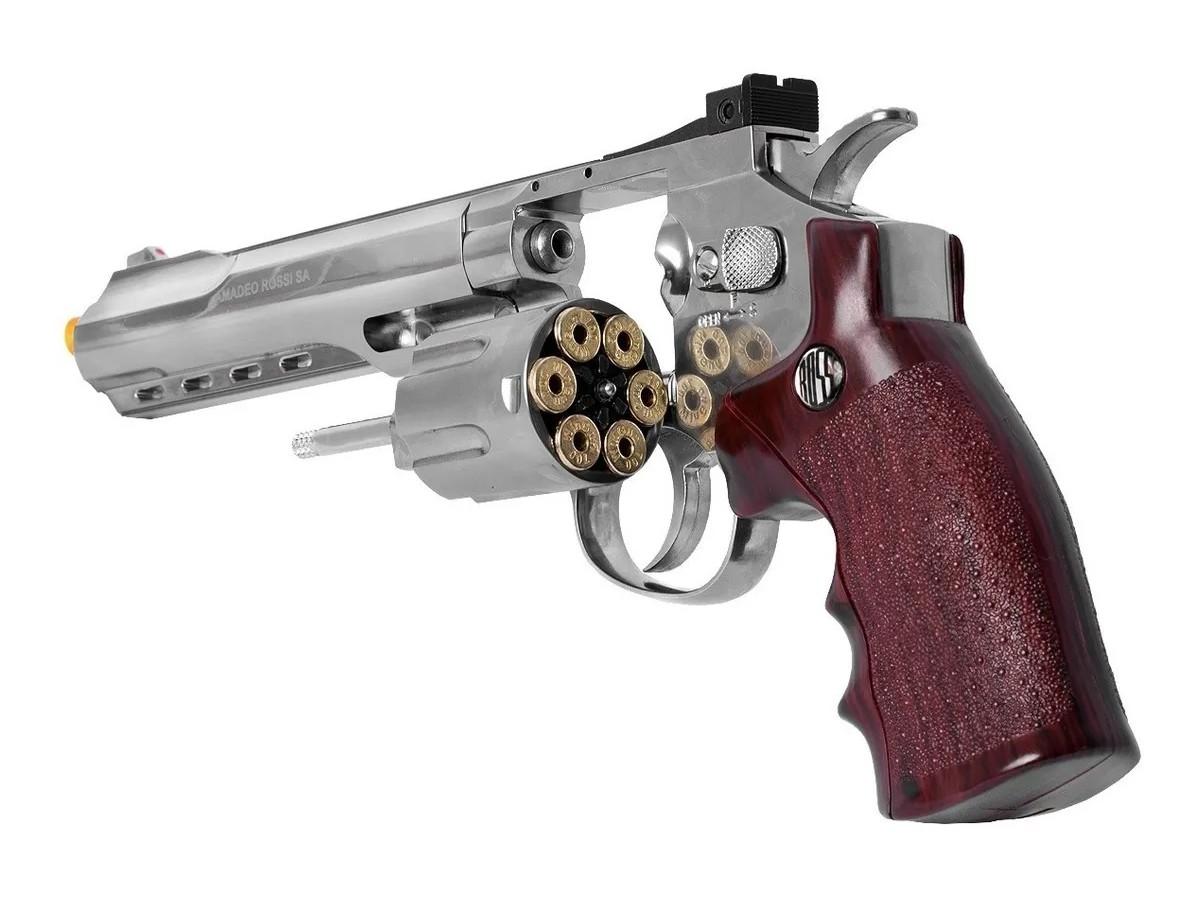 Revolver Pressão Full Metal Co2 702 4.5mm Esferas De Aço K1