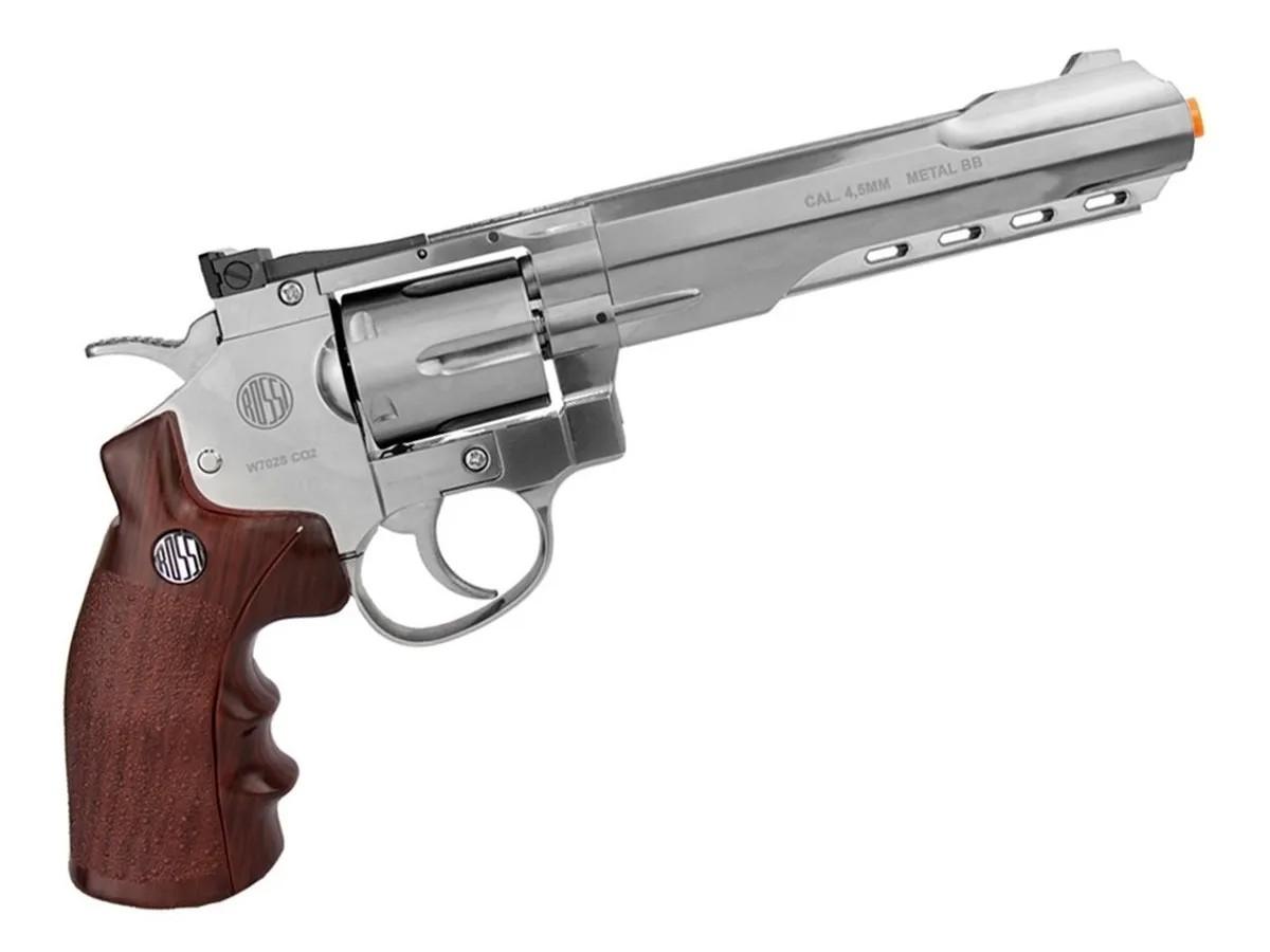 Revolver Pressão Full Metal Co2 702 S 4.5mm Esferas De Aço