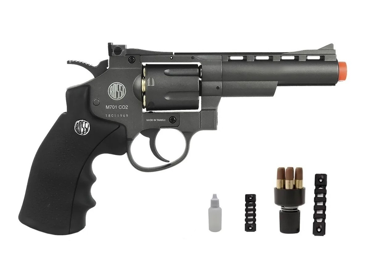 Revolver Pressão Rossi 701 Metal Esfera Aço Airgun Co2 4.5mm