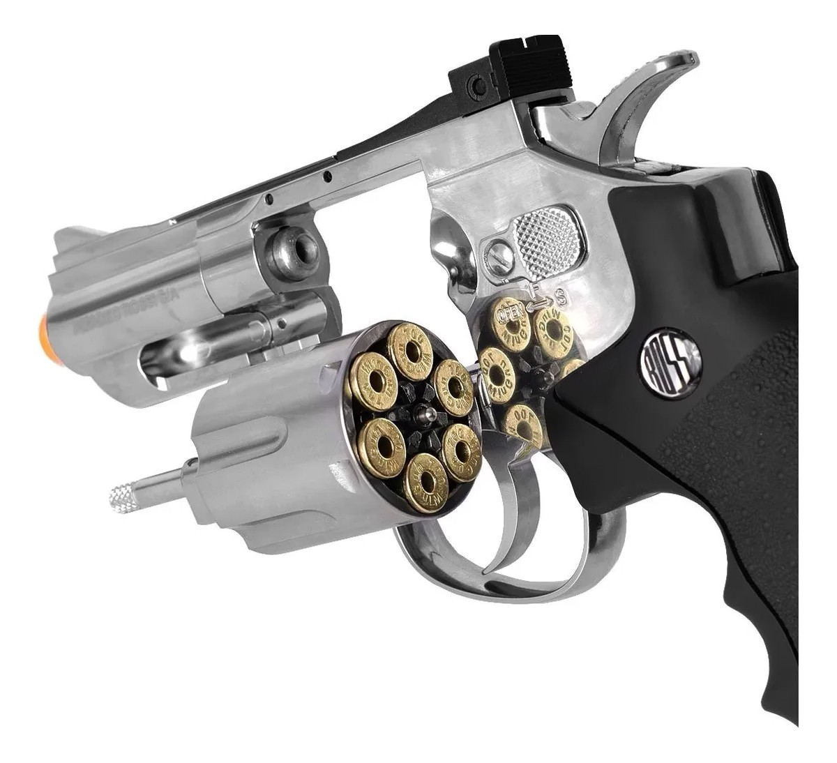 Revolver Pressão Rossi 708 Full Metal Co2 Cromado Airgun 4,5 K3