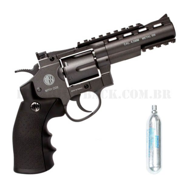 Revolver Airgun Rossi 701 4 Pol. CO2 4,5mm Full Metal