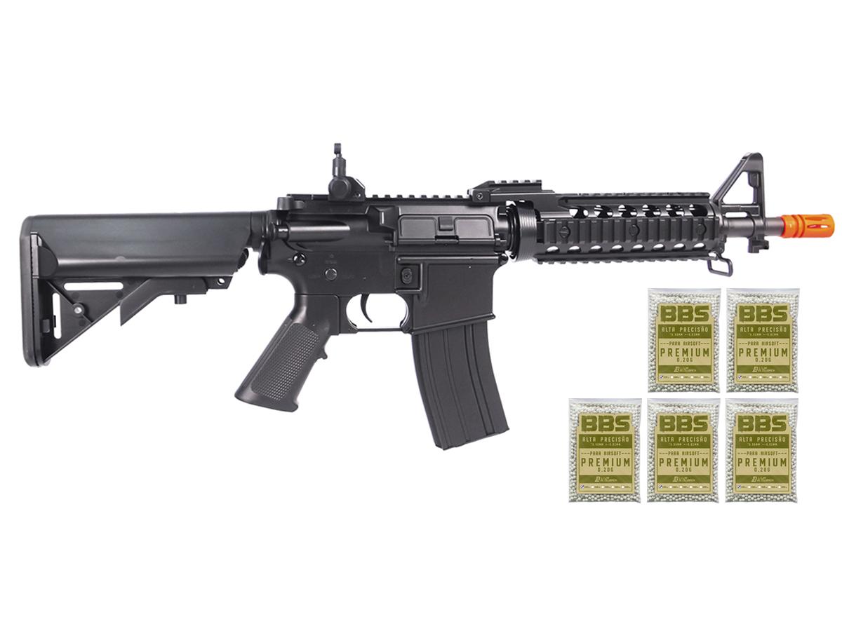 Rifle Airsoft Cyma M4 CQB Cm505 Rajada Aeg Elétrica 6mm K9