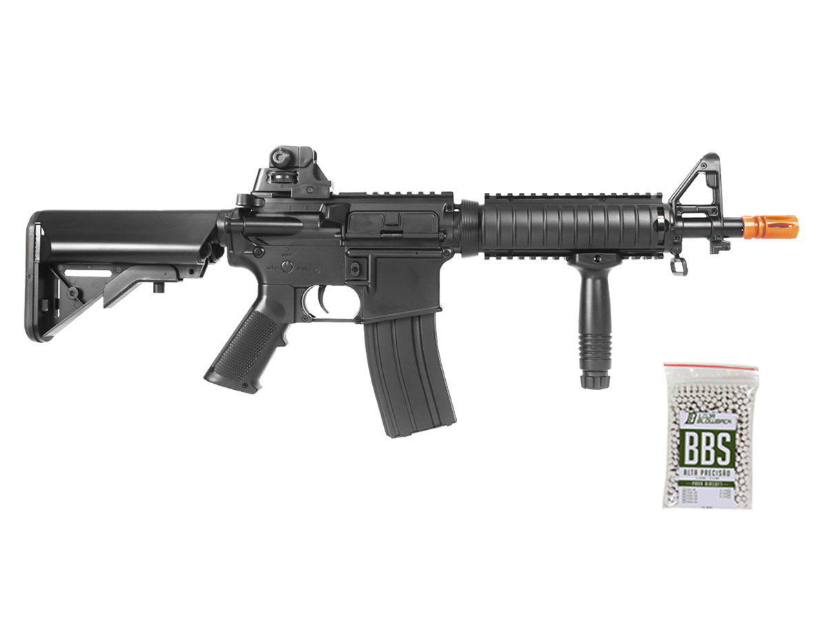Rifle Airsoft Cyma M4 Ris CQB Rajada Aeg Elétrica 6mm Kit 1