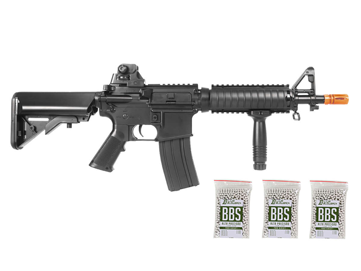 Rifle Airsoft Cyma M4 Ris CQB Rajada Aeg Elétrica 6mm Kit 3