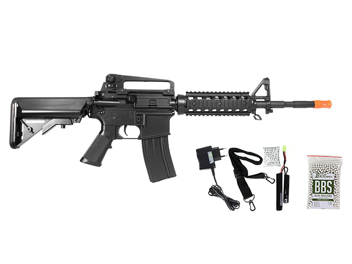 Rifle Airsoft Cyma M4A1 Ris Cm507 Rajada Aeg Eletrica 6mm H1