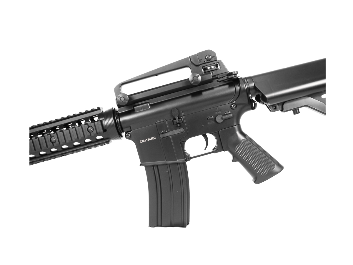 Rifle Airsoft Cyma M4A1 Ris Cm507 Rajada Aeg Eletrica 6mm K1