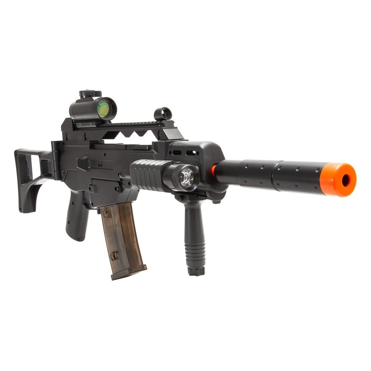 Rifle Airsoft Hk G36 Elétrico Bivolt 6mm Rajada + 1000 Bbs