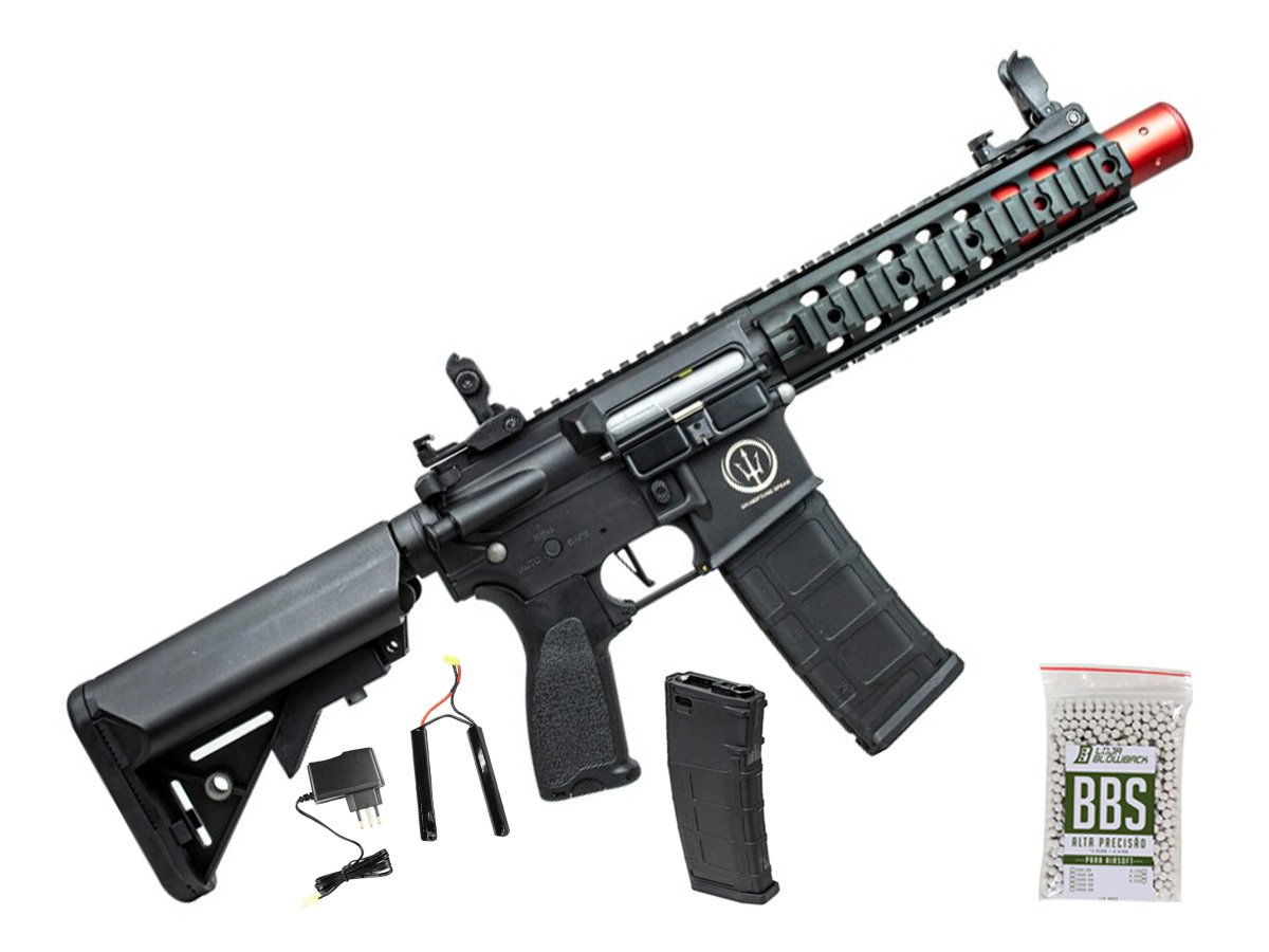 Rifle Airsoft M4 Rossi Ar15 Neptune 8p Aeg Rajada 6mm K1