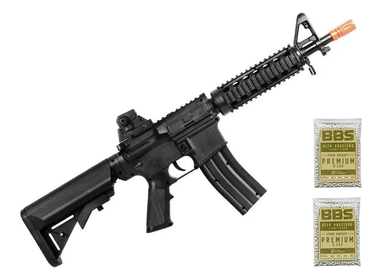 Rifle Airsoft M4a1 Ris Vigor Fuzil Spring 6mm + Bbs 0.20g 2000un