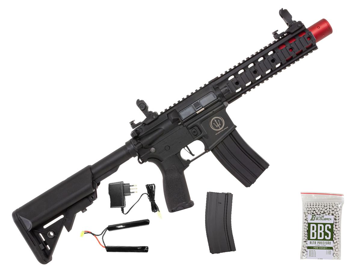Rifle de Airsoft AEG M4 AR15 Neptune 8p SD + 1000 Bbs 0,12g loja Blowback