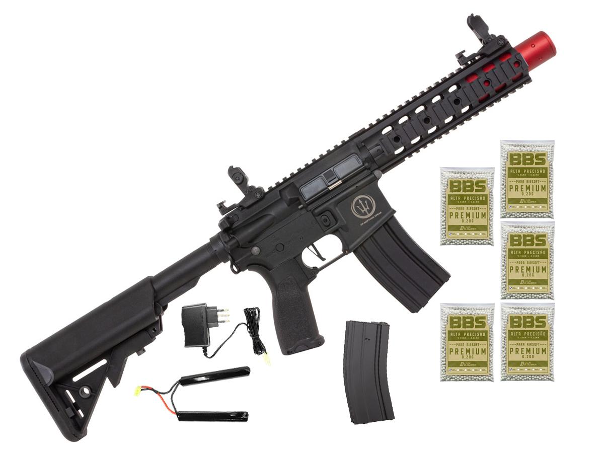 Rifle de Airsoft AEG M4 AR15 Neptune 8p SD + 5000 Bbs 0,20g loja Blowback