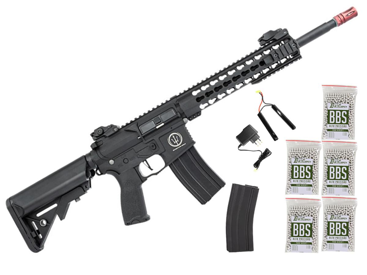Rifle de Airsoft AEG M4 AR15 Neptune Keymod 10 + 5000 Bbs 0,12g loja Blowback