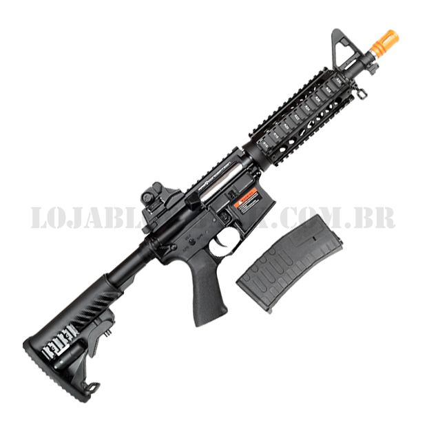Rifle Airsoft Eletrico AEG M4 CQB Full Metal Blowback 6mm - Aps Conception
