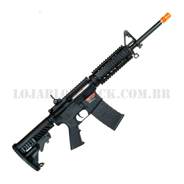 Rifle Airsoft Eletrico AEG M4 RIS Kompetitor Blowback 6mm - Aps Conception