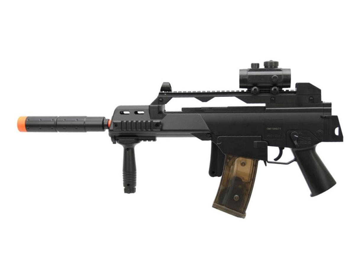 Rifle de Airsoft G36 Elétrica Cm021 Rajada Aeg Cyma 6mm K1
