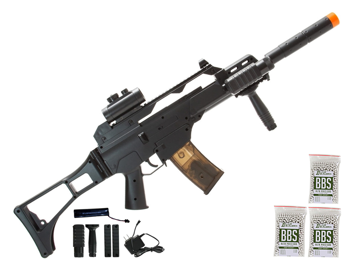 Rifle de Airsoft G36 Elétrica Cm021 Rajada Aeg Cyma 6mm K3