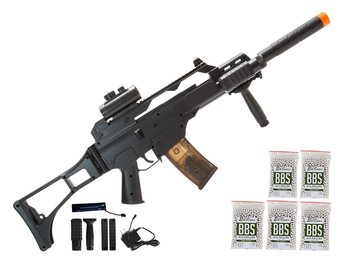 Rifle de Airsoft G36 Elétrica Cm021 Rajada Aeg Cyma 6mm K5