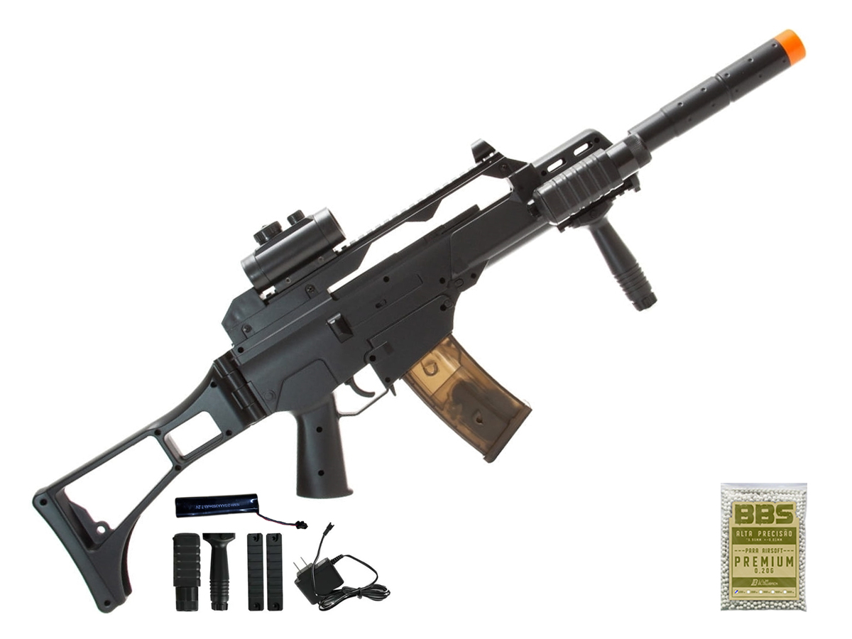 Rifle de Airsoft G36 Elétrica Cm021 Rajada Aeg Cyma 6mm K6