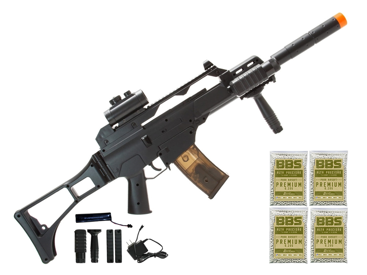 Rifle de Airsoft G36 Elétrica Cm021 Rajada Aeg Cyma 6mm K9
