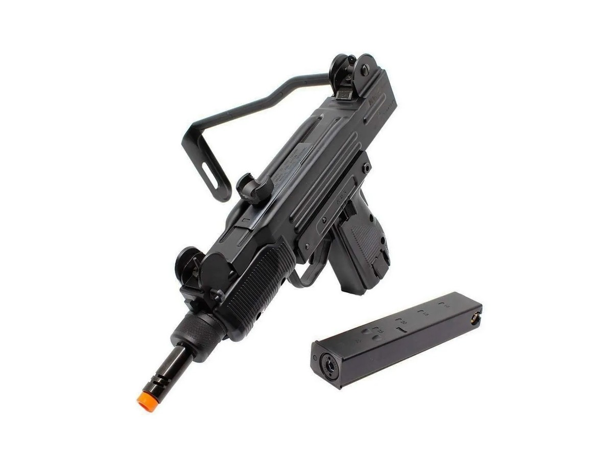 Sub Metralhadora Metal Airsoft Uzi Co2 Gbb Blowback 6mm