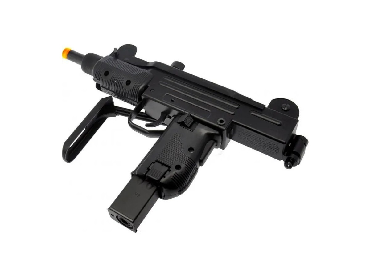 Sub Metralhadora Metal Airsoft Uzi Co2 Gbb Blowback 6mm + 10 Co2 + 10.000 Bbs